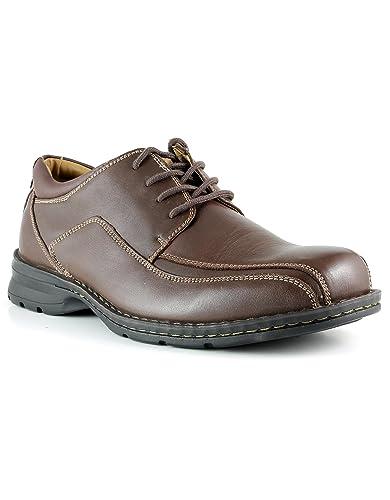 Dockers Men's Trustee Leather Dress Oxford Shoe, Dark Tan, ...