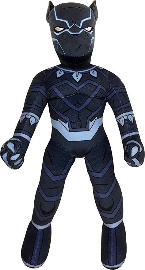 Marvel Super Hero Adventures Toddler Black Panther Plush Stuffed Pillow Buddy - Super Soft Polyester Microfiber, 22 inch (Official Marvel Product)