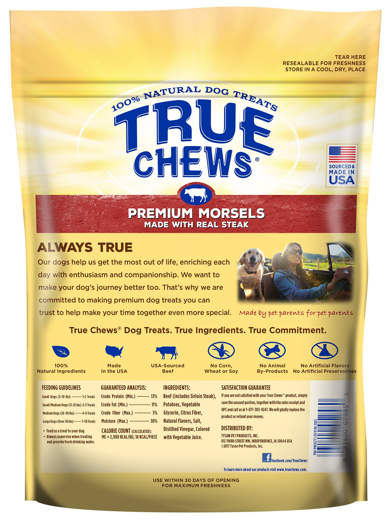 True Chews Premium Morsels Made with Real Steak 10 oz