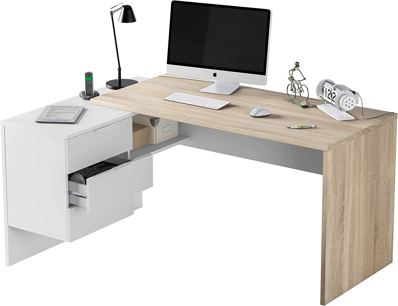 Miroytengo Pack Muebles despacho Completo Moderno 2 mesas ...