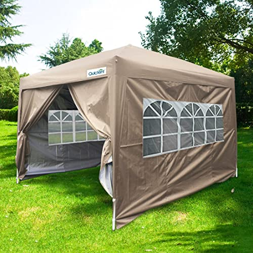Quictent Silvox 10x10 EZ Pop Up Canopy Tent Instant Canopy Party Tent 8.7 ft height 4 & Amazon Best Sellers: Best Outdoor Canopies