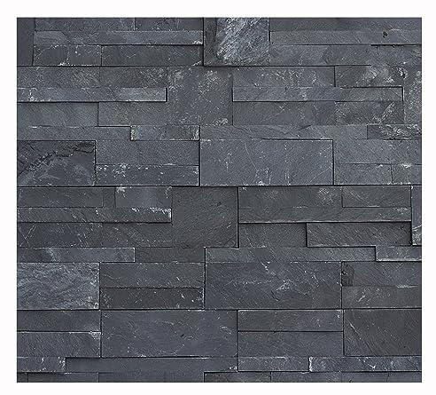 W-011 Wand Verblender Schiefer Black - 1 Muster - Naturstein ...