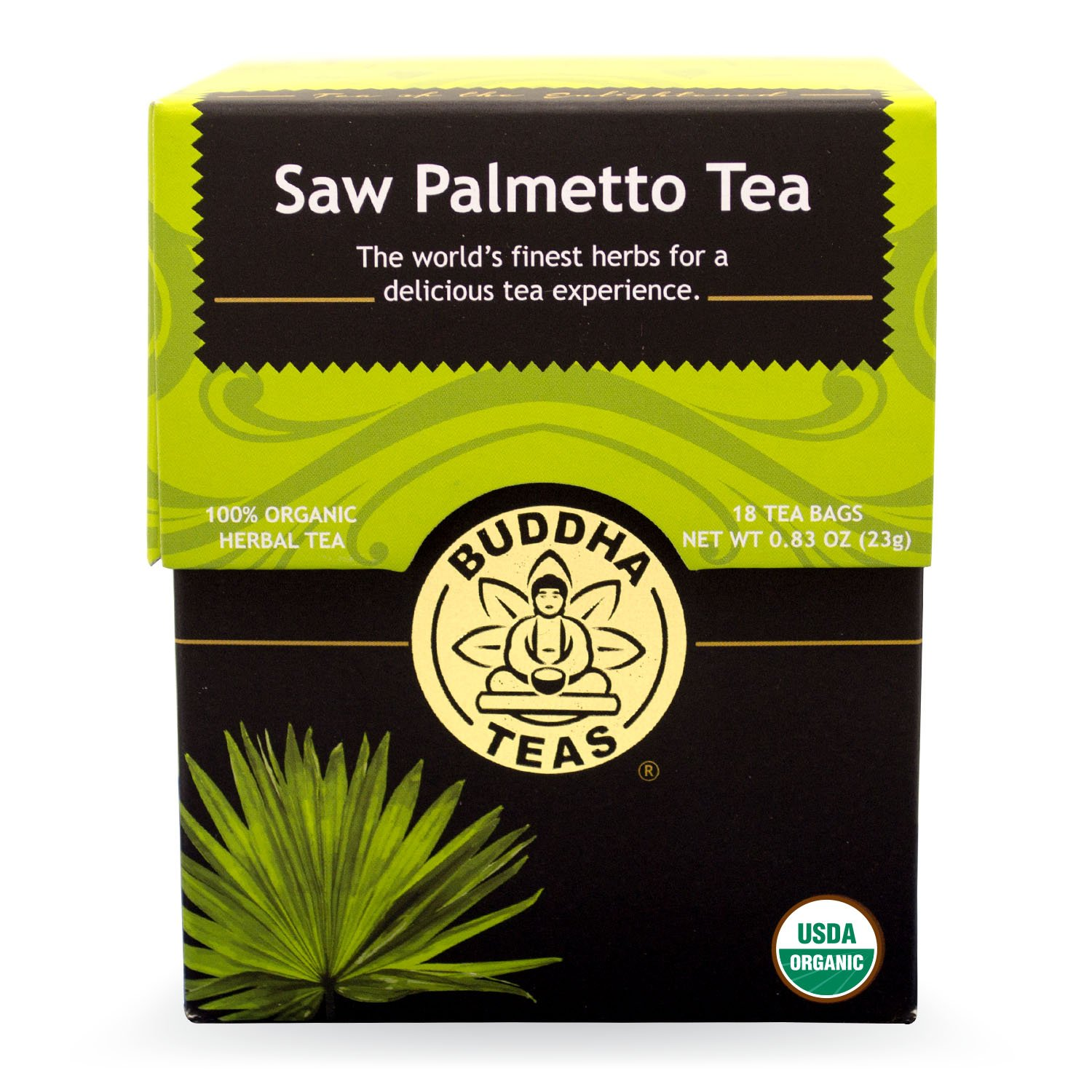 Buddha Teas Saw Palmetto Tea, 18 Count Pack of 6