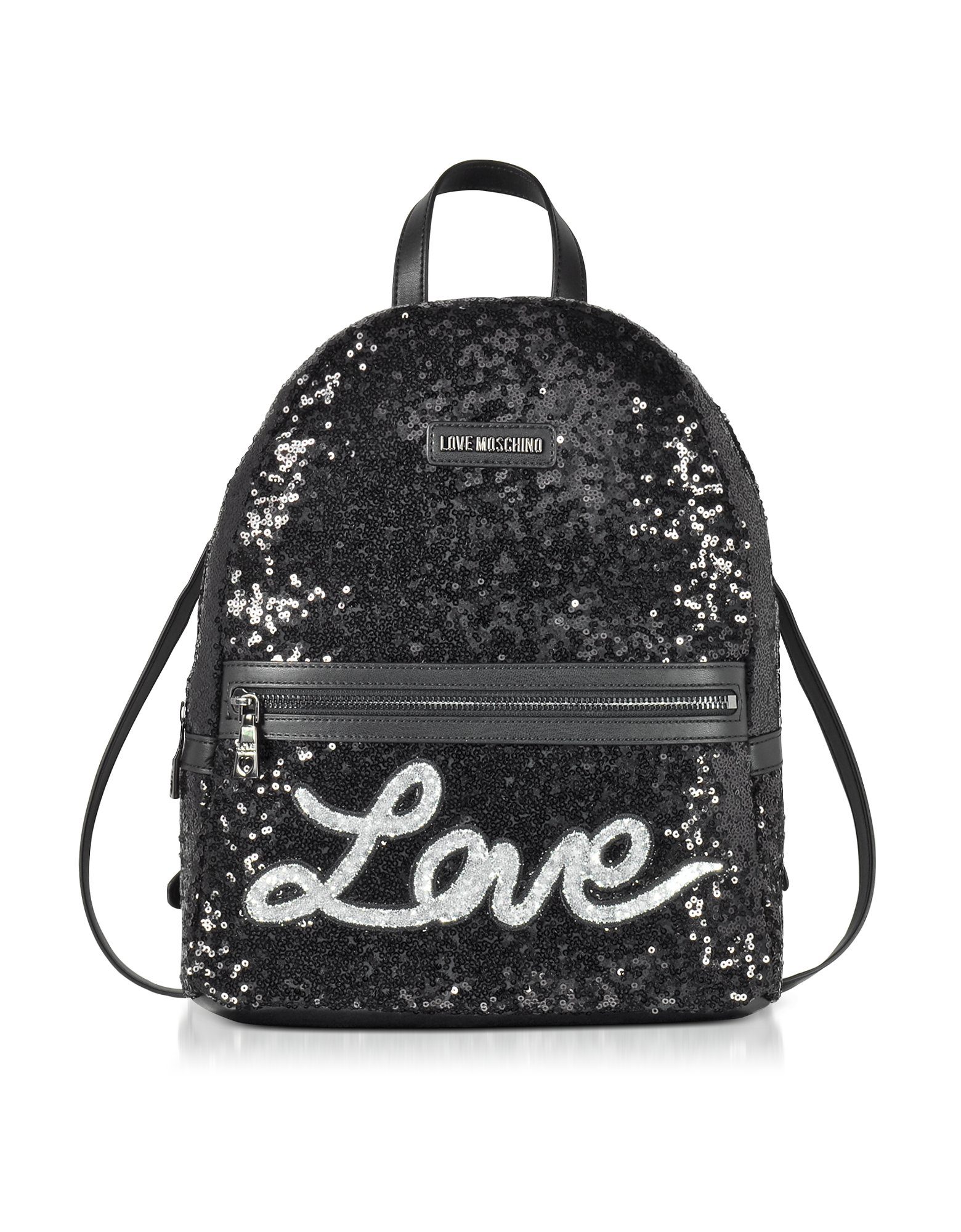 Love Moschino Women's Jc4102pp15lr0000 Black Leather Backpack