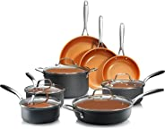 Gotham Steel Professional – Hard Anodized Pots and Pans 13 Piece Premium Cookware Set with Ultimate Nonstick Ceramic & Titani