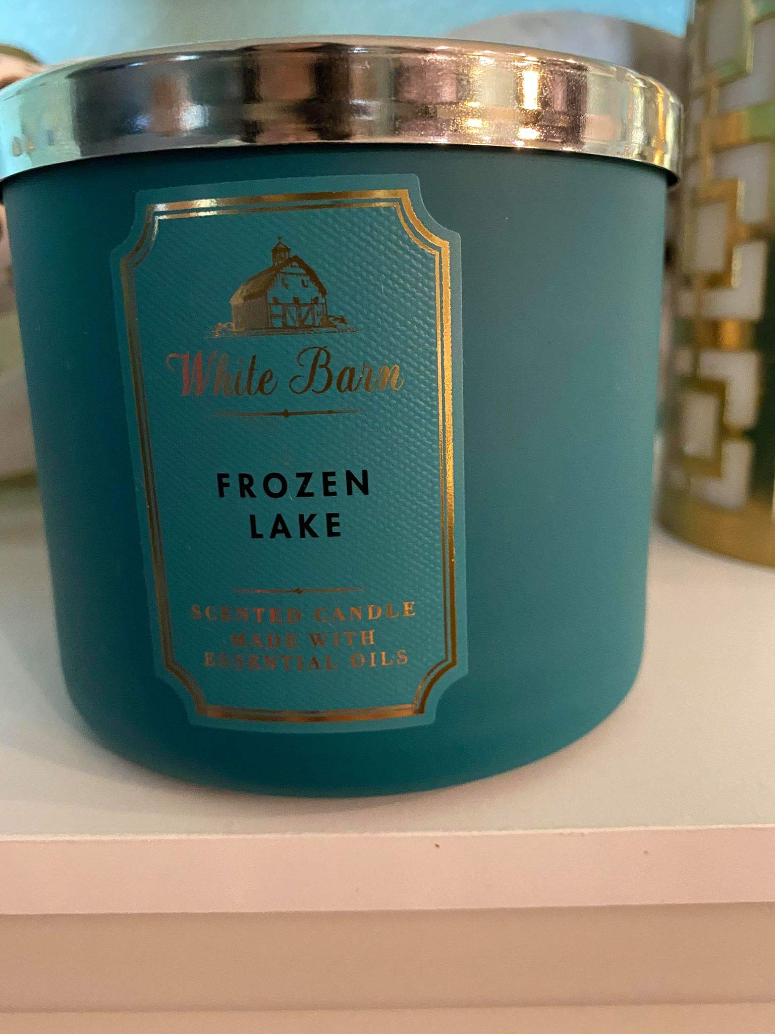 White Barn Bath & Body Works 3-Wick Scented Candle in Frozen Lake (2019)