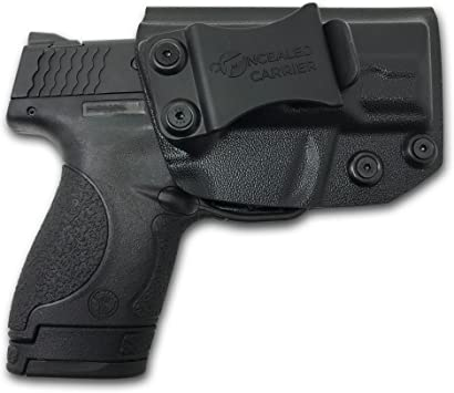 Kydex Holster for Smith /& Wesson M/&P Shield OWB Black Right Handed