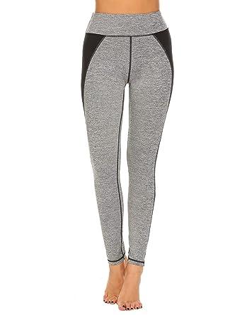 1636d4b0fa3df1 Ekouaer Yoga Pants for Women Leggings for Women Patchwork Running Pants  Workout Tights Legging
