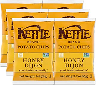 product image for Kettle Brand Potato Chips, Honey Dijon, 2 Ounce Bags (Pack of 6)
