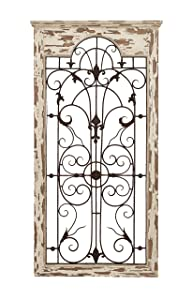 "Deco 79 55956 Wood Metal Wall Deco, 51"" H x 27"" W"