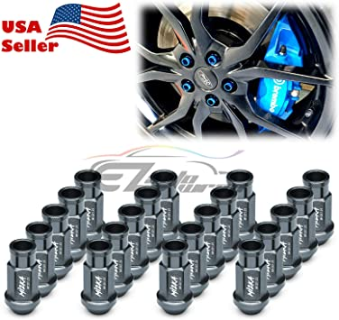 20 PC BLUE LUG EXTENDED RACING LUG NUTS FOR TIRES//WHEELS//RIMS 50MM 12X1.25 D