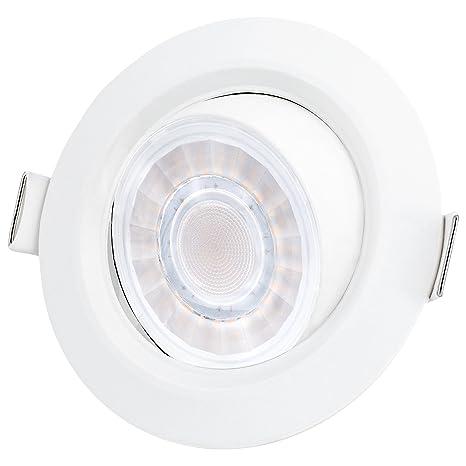 LED Einbaustrahler Bad schwenkbar, drehbar & dimmbar mit IP44 Wasserschutz  8W warmweiß (Trafo verbaut) für Badezimmer & Küche