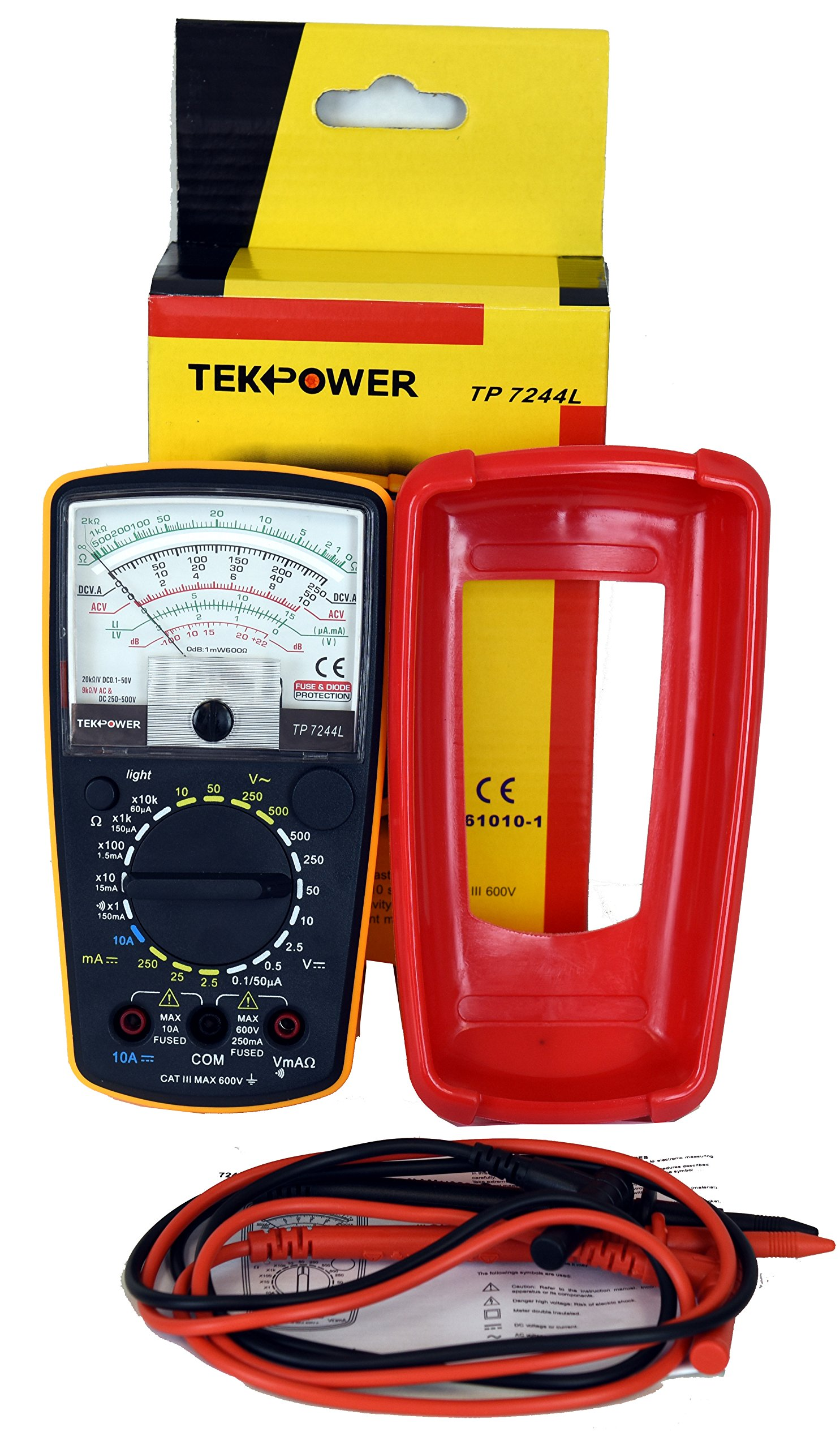 Tekpower TP7244L 7-Function 20-Range Analog Multimeter With Back Light with Strong Protective Holster by Tekpower (Image #8)