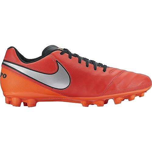 Nike Tiempo Genio II Leather AG-R, Botas de fútbol para Hombre, Rojo
