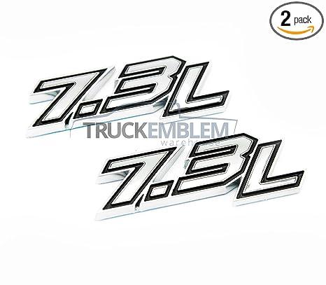 Amazoncom 2 New Chrome Black Ford Power Stroke Custom 73l2017