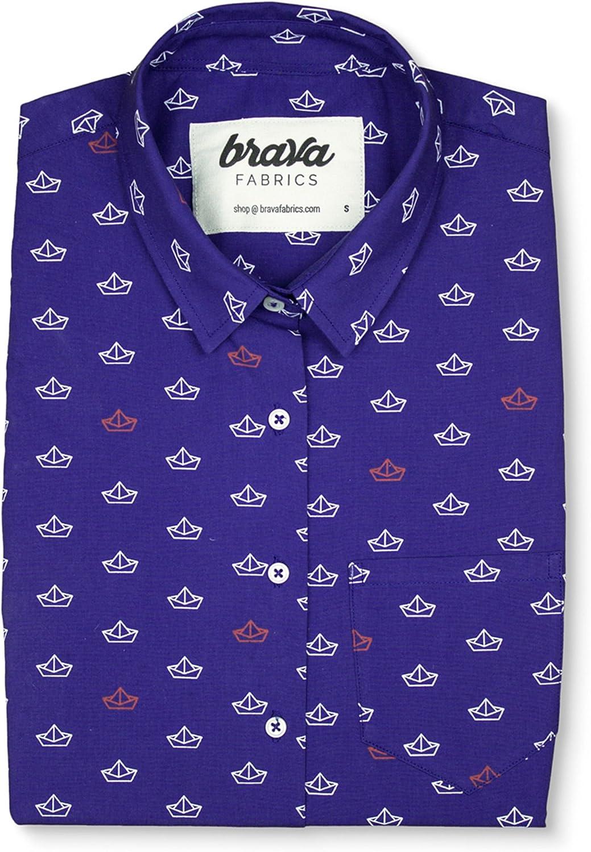 Brava Fabrics | Blusa para Mujer | Camisa Morada Estampada ...