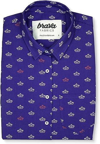 Brava Fabrics | Blusa para Mujer | Camisa Morada Estampada para Mujer | Modelo Hot Chili | Talla 2XL: Amazon.es: Ropa y accesorios