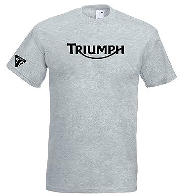Triumph Hoodie Grey British GB motorbike motorcycle vintage
