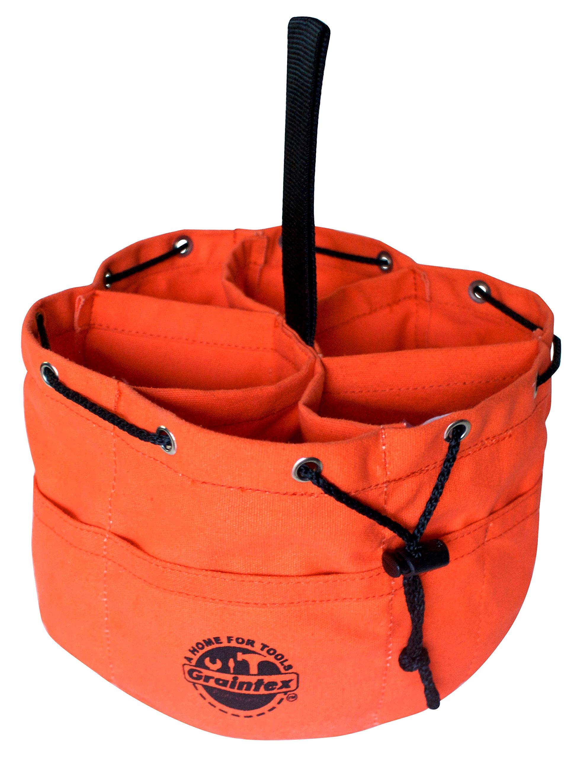 Graintex GB2890 Grab Bag Orange Color Canvas