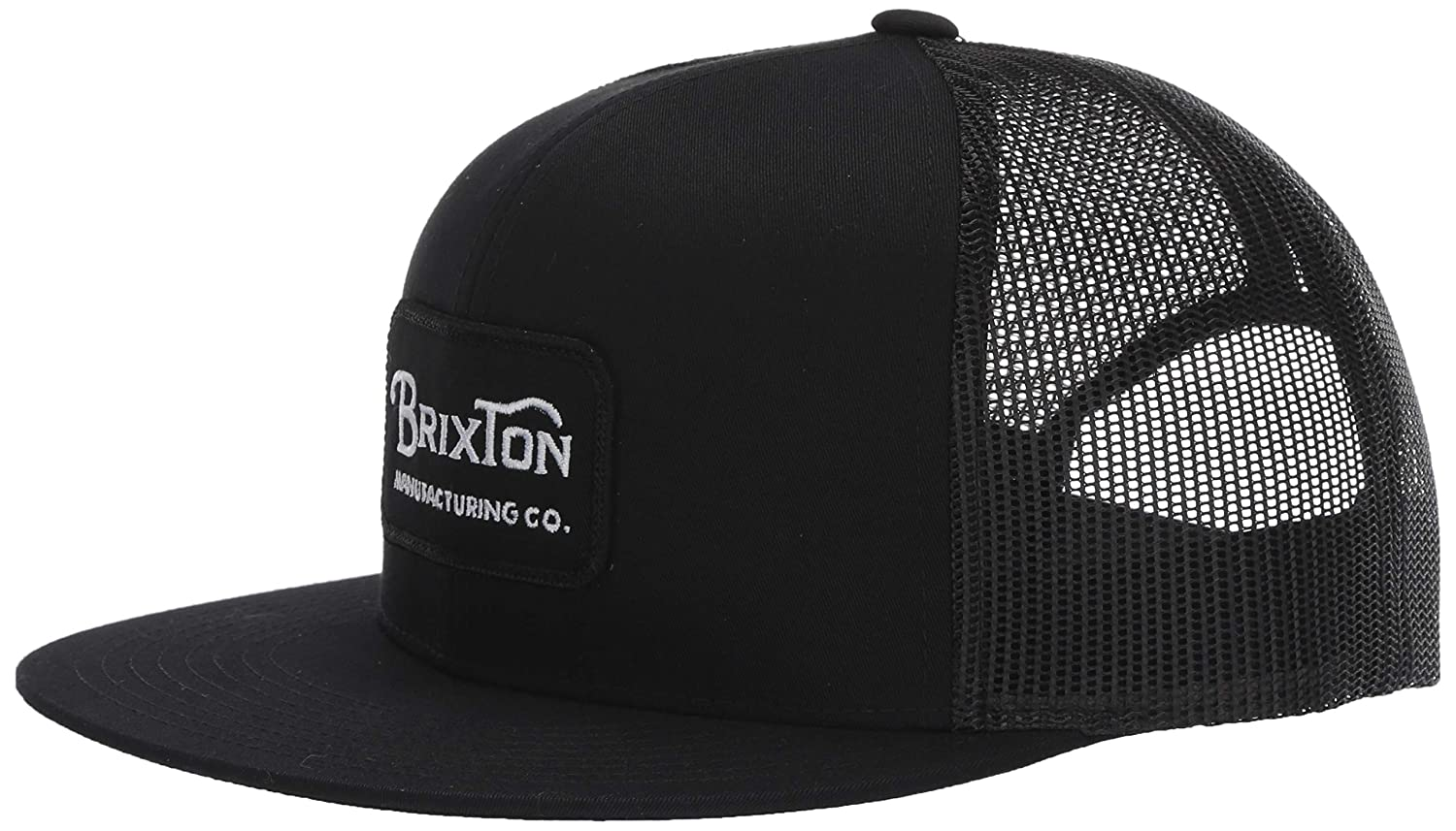 size 40 92a45 ae777 Amazon.com  Brixton Men s Grade HIGH Profile Adjustable MESH HAT, Black,  O S  Clothing