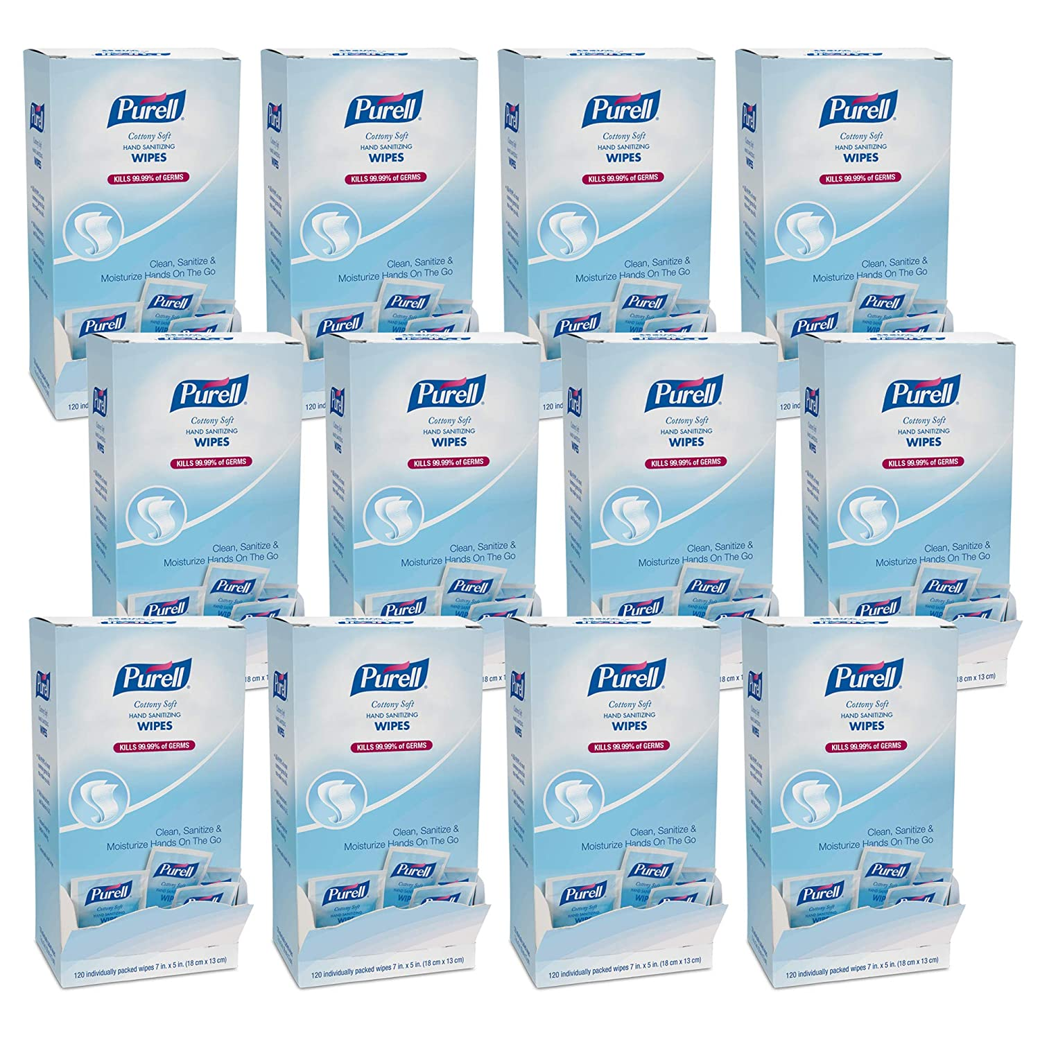 Amazon Com Purell Cottony Soft Hand Sanitizing Wipes Clean Scent