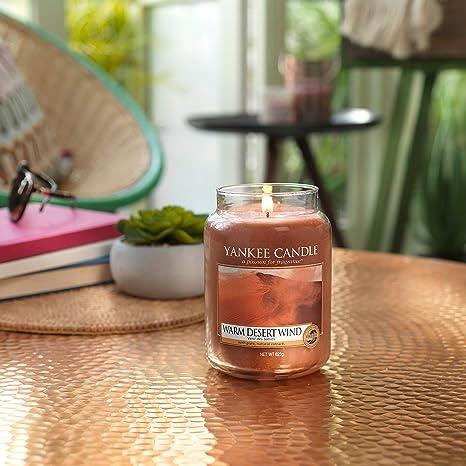 10,7 x 10,7 x 12,7 cm Yankee Candle Warm Desert Wind Glaskerze orange
