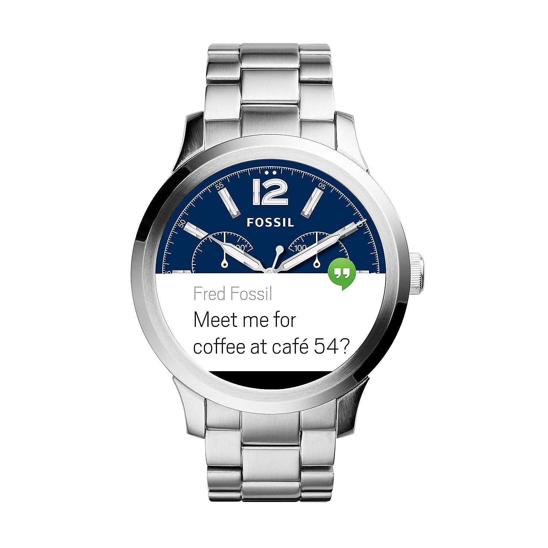 Fossil Reloj para Hombre de Digital con Correa en Acero Inoxidable FTW20002: Amazon.es: Relojes