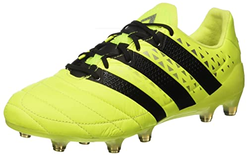 check out 977af adda3 adidas Ace 16.1 Fg Leather, Scarpe da Calcio Uomo, Giallo (Syello Cblack