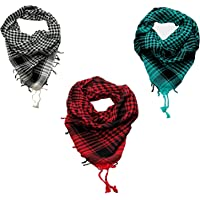 CRAFTSHUB Men's Cotton Arafat Scarf Red_Multicolour_Free Size (Pack of 3)