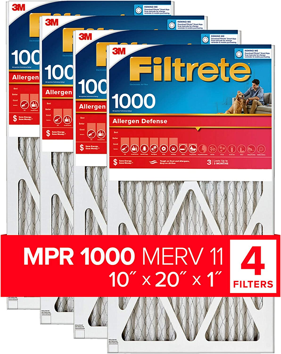 Nordic Pure 16x25x1 MPR 1000D Pleated Micro Allergen Replacement AC Furnace Air Filters 2 Pack