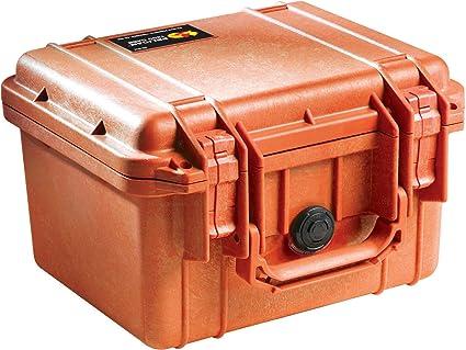 Pelican 1300 Case with Foam for Camera - Orange Camera Cases at amazon