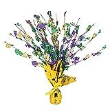 Fun Express - Mardi Gras Foil Burst Decoration for Mardi Gras - Party Decor - General Decor - Centerpieces - Mardi Gras - 1 Piece