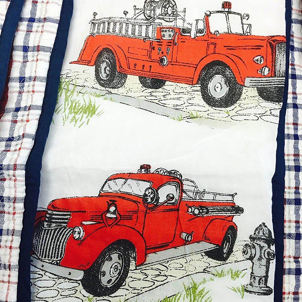Cozy Line 3 Pcs Truck Plaid Quilt Set for Boy (Twin)