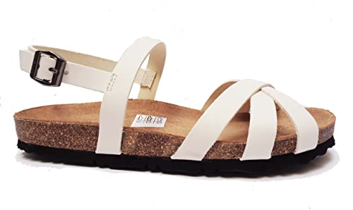 FRAU - Sandalias de vestir de Piel para mujer marrón Burro 37  talla 42.5 Kickers - Zapatos de cordones de cuero para mujer negro negro 36  Color Rosa TI971s