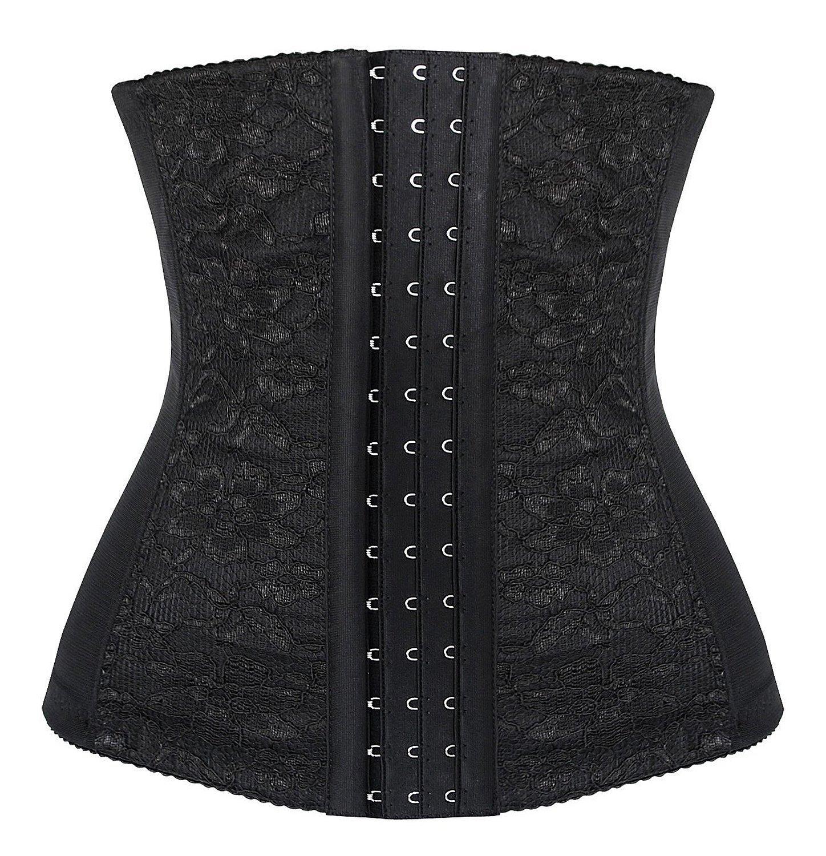 Spring Fever Women's Steel Boned Lace Underbust Breathable Waist Diet Corset