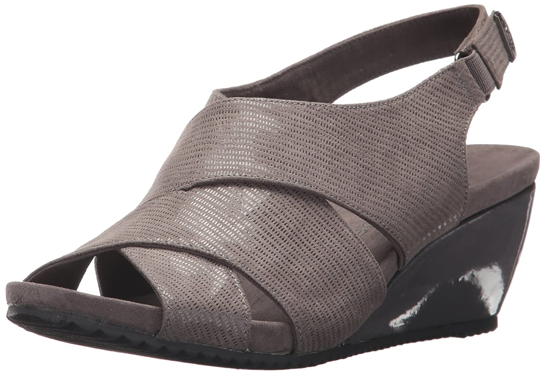 666f270e9f85 Anne Klein Women s Carolyn Fabric Wedge Sandal