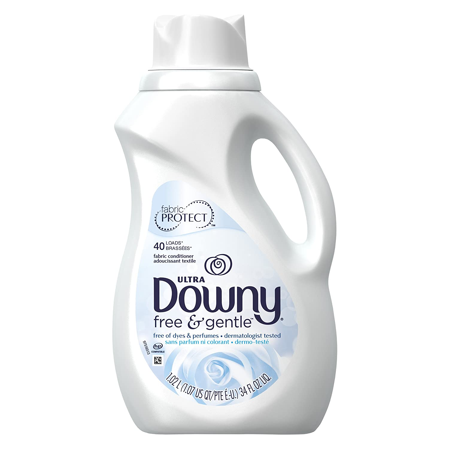 Downy Ultra Liquid Fabric Conditioner, Free & Gentle , 34 Fl oz