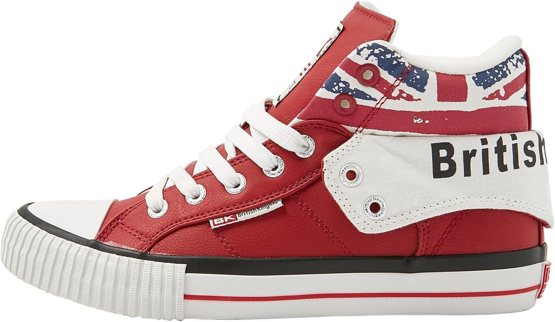 British Knights Unisex-Kinder Roco Hohe Sneaker Blanc//Union Jack 29 EU