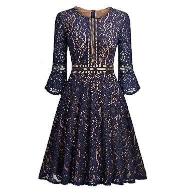 Levesolls Spitzenkleid Abendkleid Cocktailkleid Damen Kleider ...