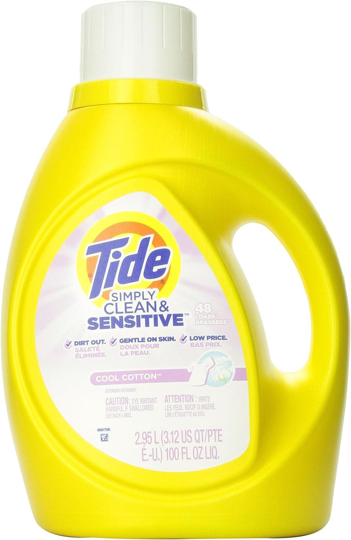 Tide Simply Clean & Sensitive HE Liquid Laundry Detergent - 100 oz - Cool Cotton - 48