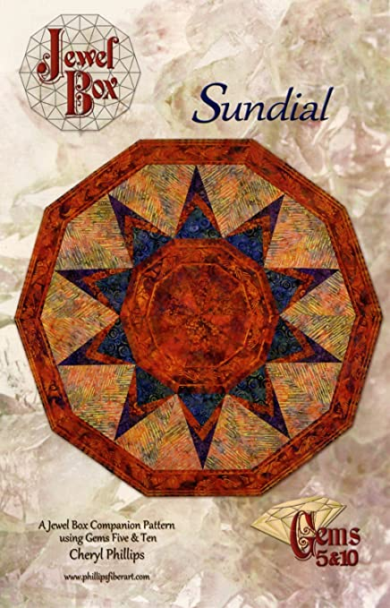 Amazon Com The Sundial Quilt Pattern By Phillips Fiber Art Arts Crafts Sewing
