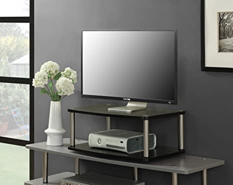 Amazon Com Convenience Concepts Designs 2 Go 2 Tier Swivel Tv Stand