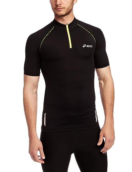 beb62e40 ASICS Inner Muscle Half-Zip Short Sleeve T-Shirt - XX Large ...