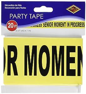"Senior Moment In Progress Party Tape 3"" x 20' 1/Pkg"
