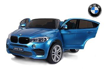 RIRICAR BMW X6 M Coche eléctrico para niños, 2 x 120W, Azul Pintado,