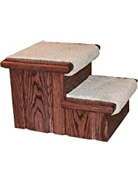 Premier Pet Steps Tall Raised Panel Dog Steps, Carpeted Tread With A Rich  Cherry Stain