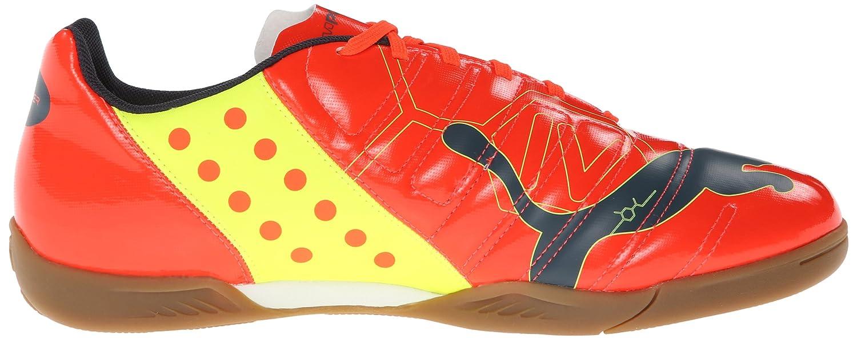 puma indoor soccer shoes. amazon.com | puma men\u0027s evopower 4 indoor soccer shoe, fluorescent peach/ombre blue/fluorescent yellow, 13 m us puma shoes i