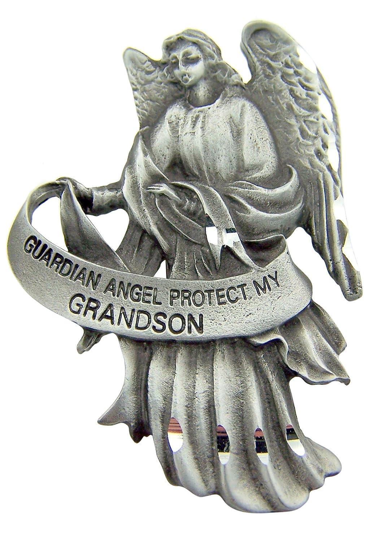 2 1//2 Inch Protect My Mom WJ Hirten Pewter Guardian Angel Visor Clip