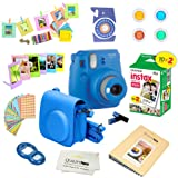 Fujifilm Instax Mini 9 Instant Camera COBALT BLUE w/ Fujifilm Instax Mini 9 Instant Films (20 Pack) + A 14 Pc Deluxe Bundle by Quality Photo For The Fujifilm Instax Mini 9 Camera