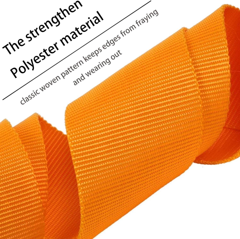 cinghia di recupero 7,6 cm x 20 8,2 kg di resistenza alla rottura corda verricello cinghia con 2 ganci Cinghia di traino resistente